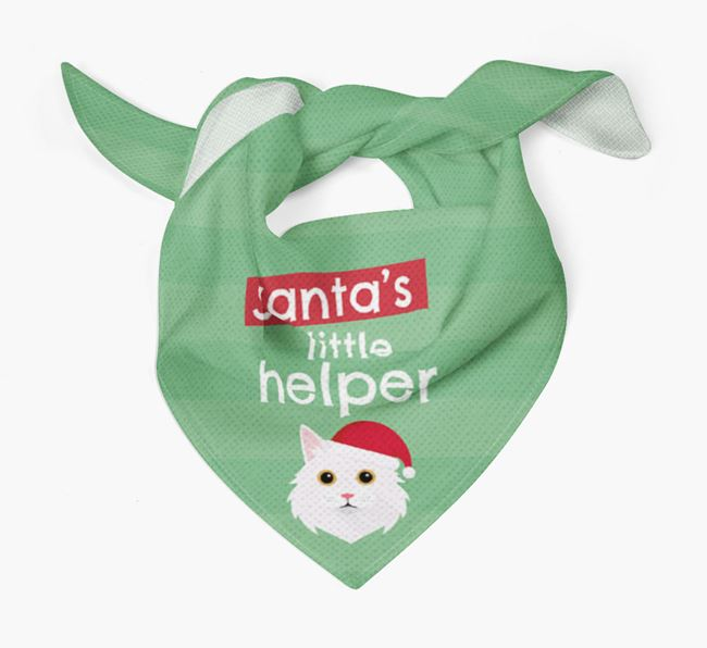 'Santa's Little Helper' Christmas Bandana with Cat Icon