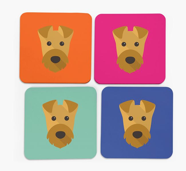Airedale Icon Coasters 4 pack