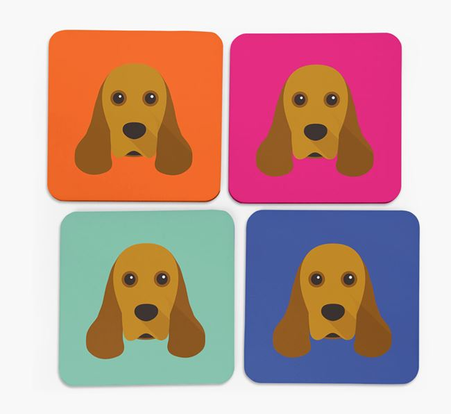 Cocker Spaniel Icon Coasters 4 pack