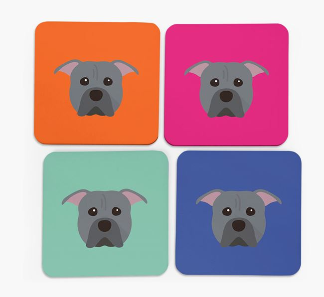 Pit Bull Terrier Icon Coasters 4 pack