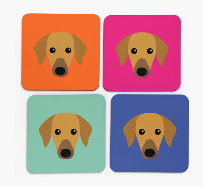 Azawakh Icon Coasters 4 pack