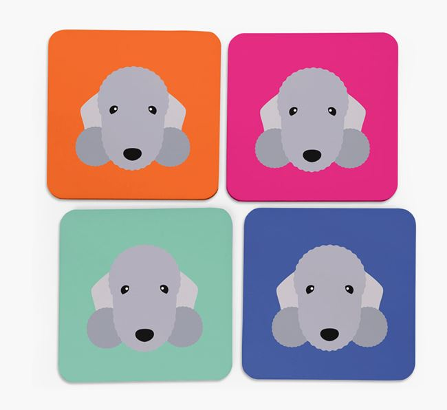 Bedlington Icon Coasters 4 pack