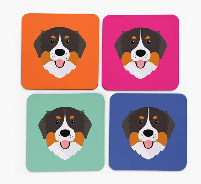 Bernese Icon Coasters 4 pack