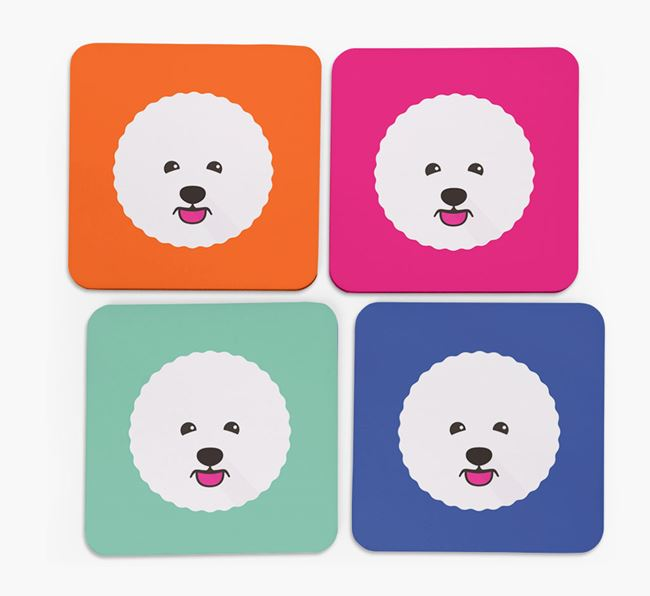 Bichon Frise Icon Coasters 4 pack