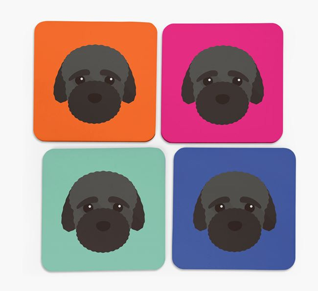 Bich-poo Icon Coasters 4 pack