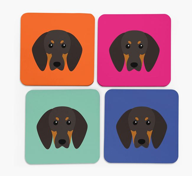 Coonhound Icon Coasters 4 pack