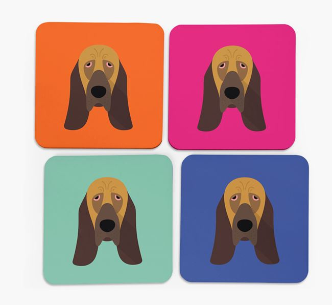 Bloodhound Icon Coasters 4 pack