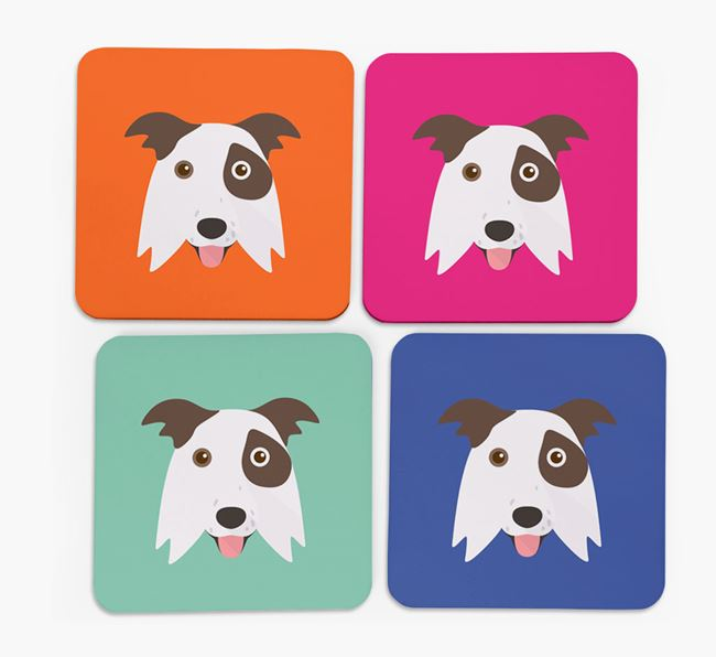 Border Collie Icon Coasters 4 pack