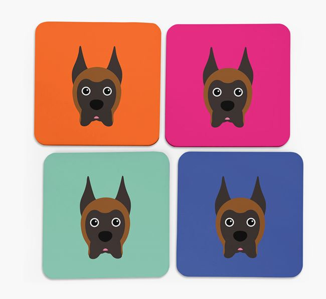 Boxer Icon Coasters 4 pack