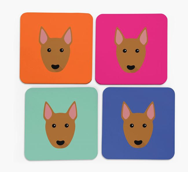 Bull Terrier Icon Coasters 4 pack