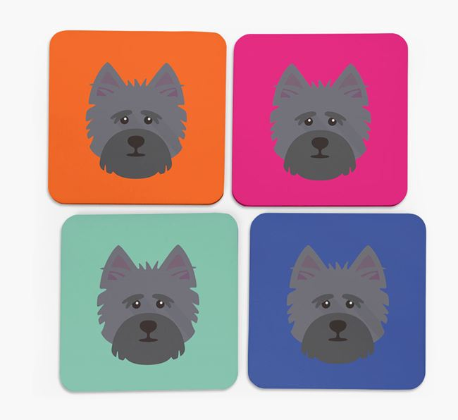 Cairn Terrier Icon Coasters 4 pack
