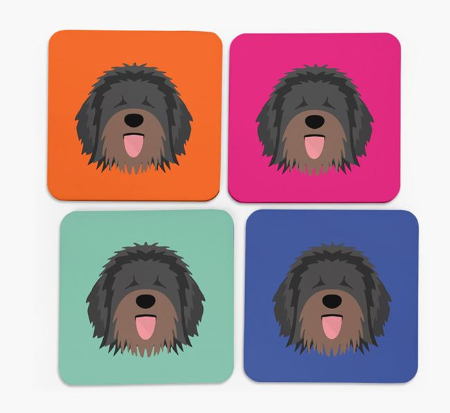 Catalan Sheepdog Icon Coasters 4 pack