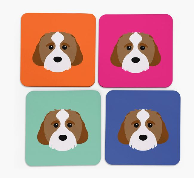 Cavachon Icon Coasters 4 pack