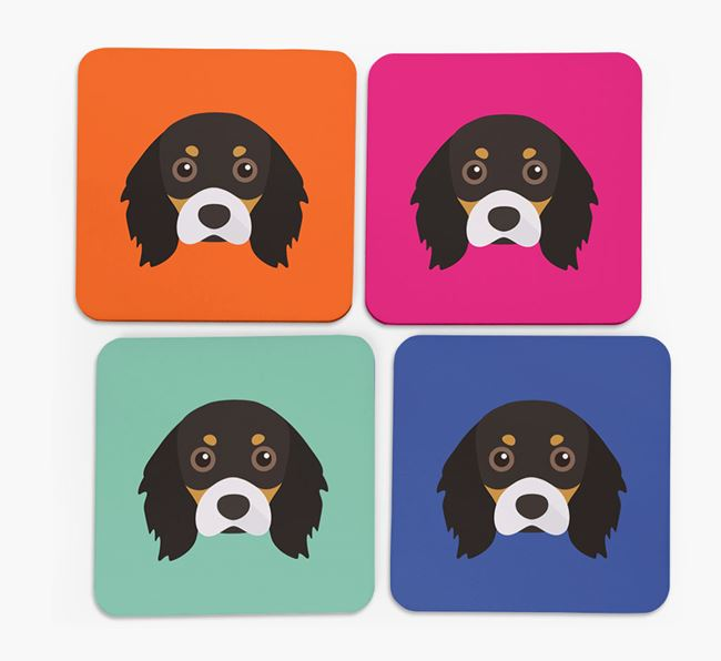 Cavalier King Charles Icon Coasters 4 pack