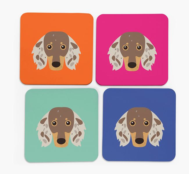 Dachshund Icon Coasters 4 pack