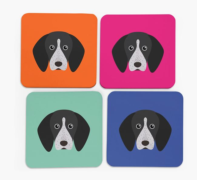 English Coonhound Icon Coasters 4 pack