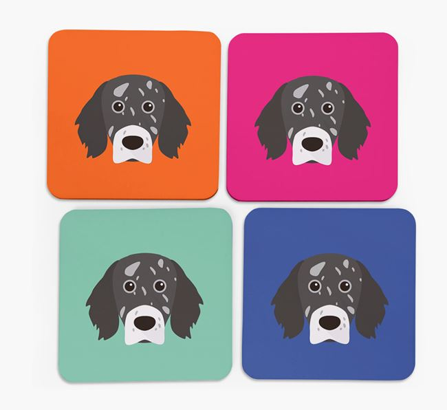 English Setter Icon Coasters 4 pack