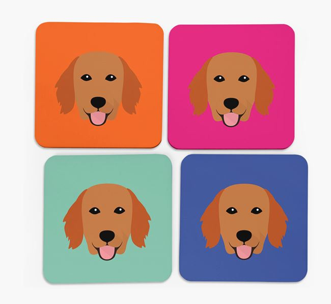 Flatcoat Icon Coasters 4 pack