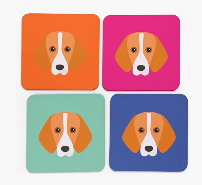 Foxhound Icon Coasters 4 pack