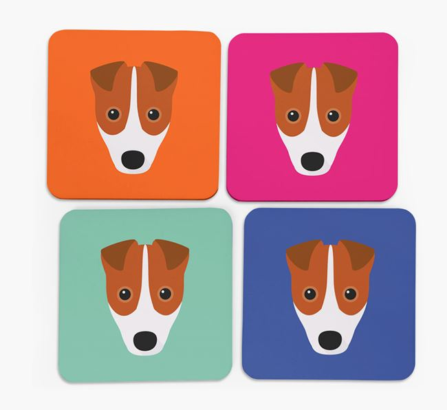 Fox Terrier Icon Coasters 4 pack