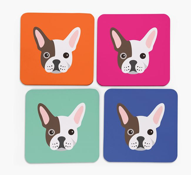 Frenchie Icon Coasters 4 pack
