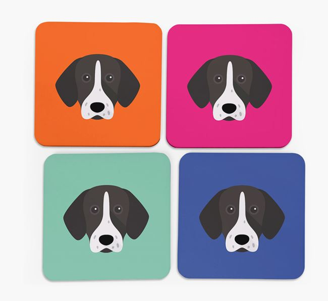 Shorthaired Pointer Icon Coasters 4 pack
