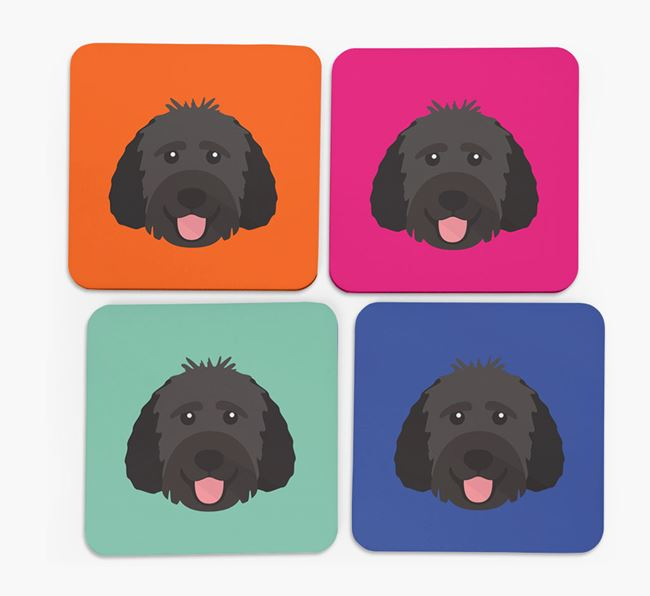 Goldendoodle Icon Coasters 4 pack