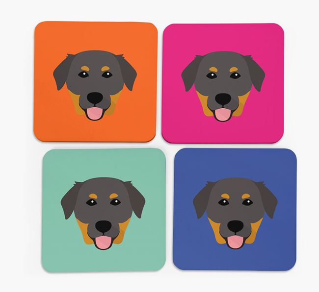 Golden Lab Icon Coasters 4 pack