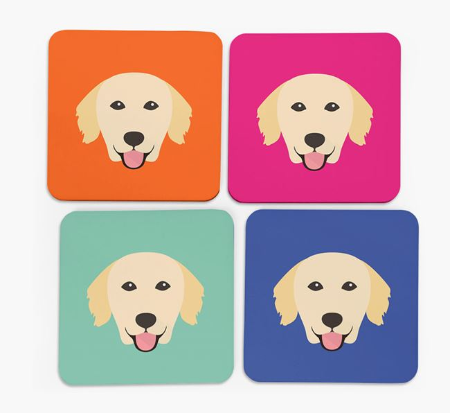 Golden Retriever Icon Coasters 4 pack