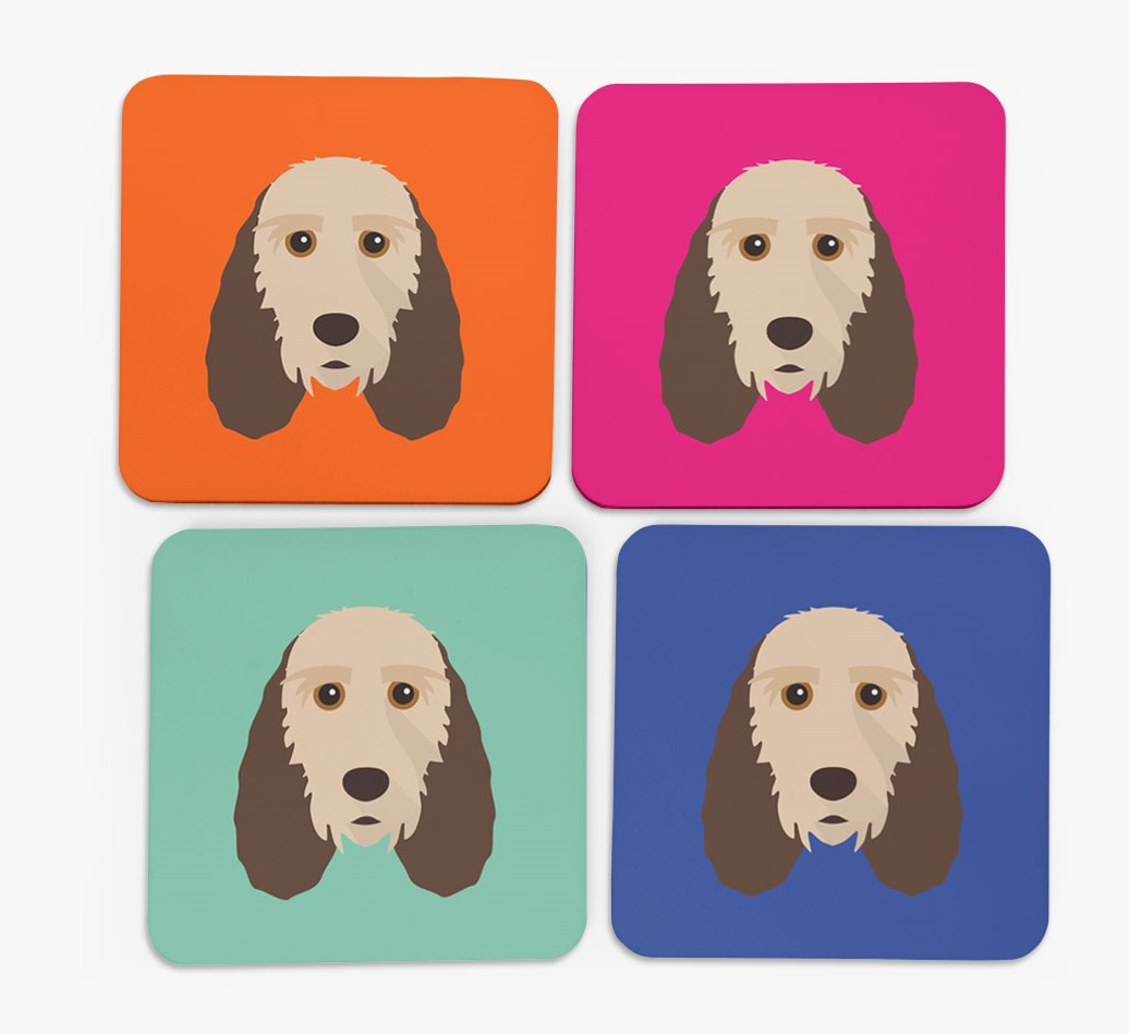 Grand Basset Griffon Vendeen Icon Coasters in Set of 4