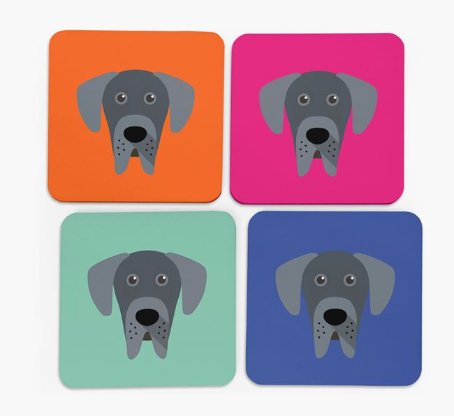 Great Dane Icon Coasters 4 pack