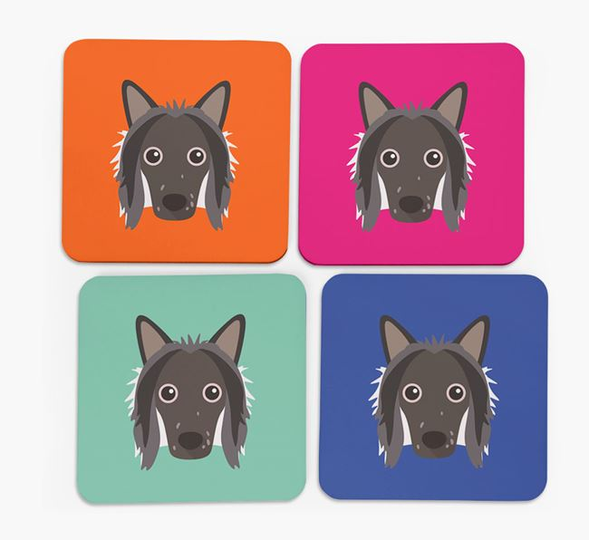Chinese Crested Icon Coasters 4 pack