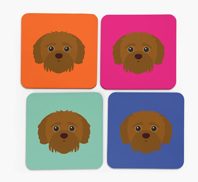 Jack-a-Poo Icon Coasters 4 pack