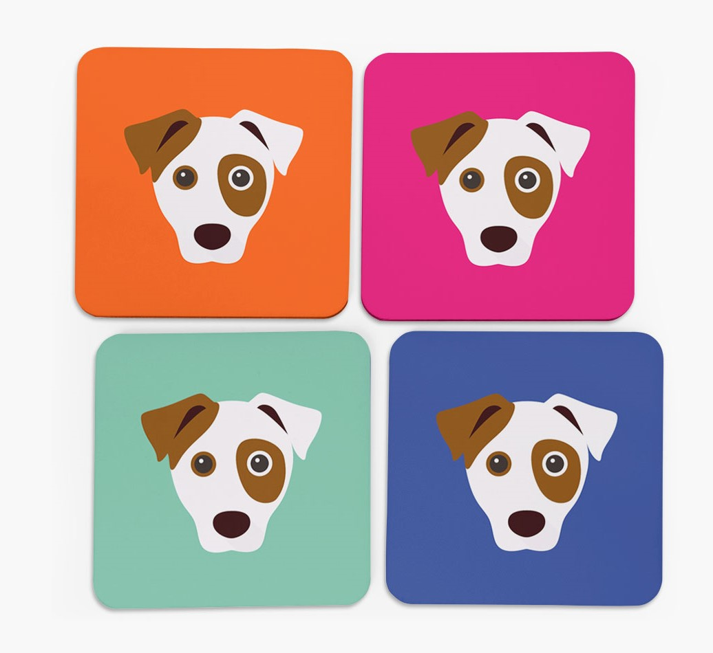 Dog Icon Coasters in Set of 4