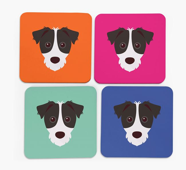 Jack Russell Icon Coasters 4 pack
