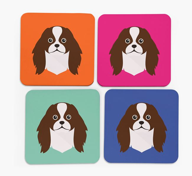 Japanese Chin Icon Coasters 4 pack