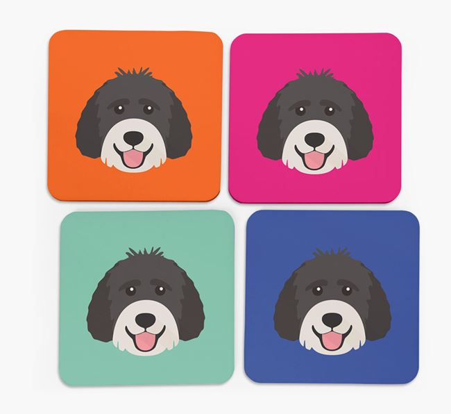 Labradoodle Icon Coasters 4 pack