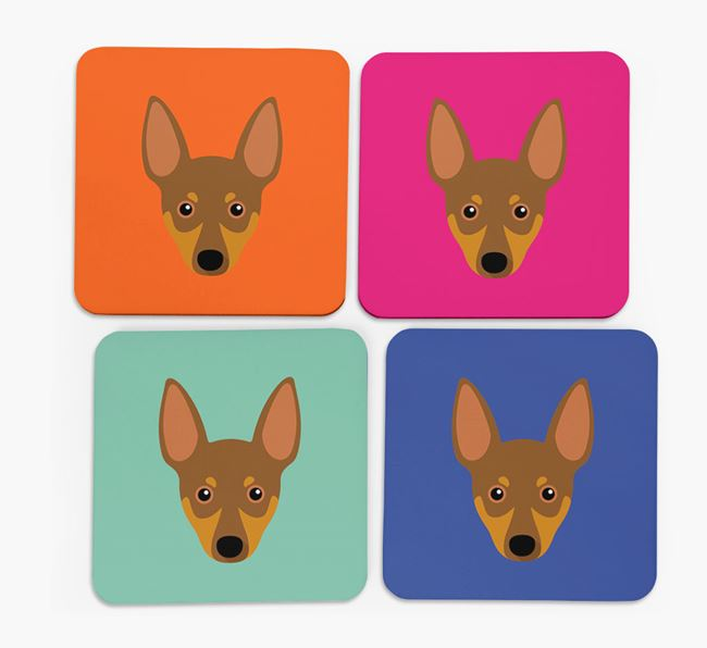 Miniature Pinscher Icon Coasters 4 pack