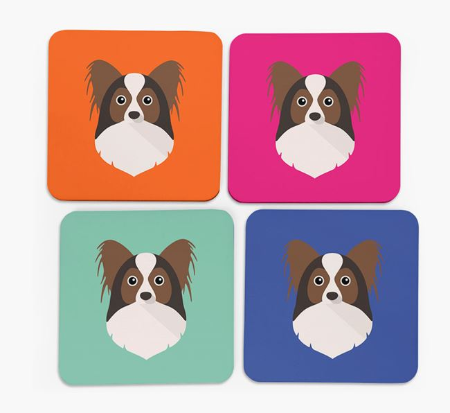 Papillon Icon Coasters 4 pack