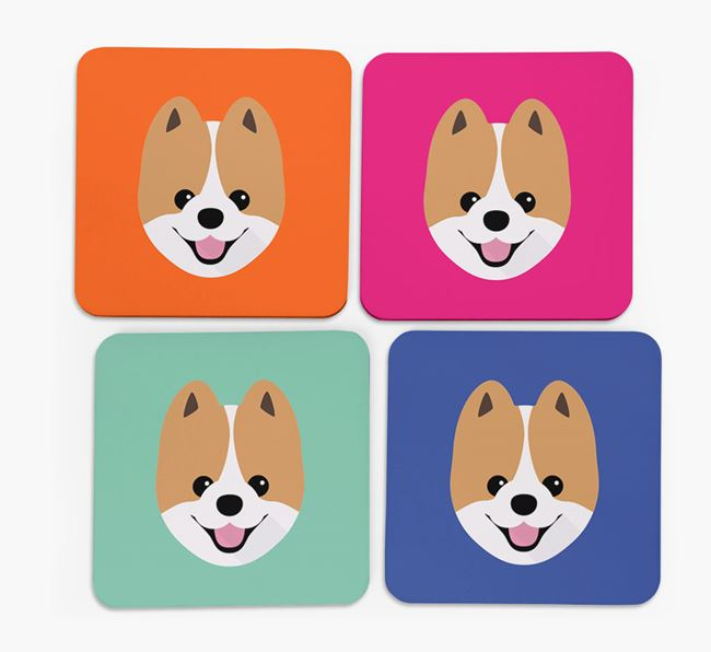 Pomeranian Icon Coasters 4 pack