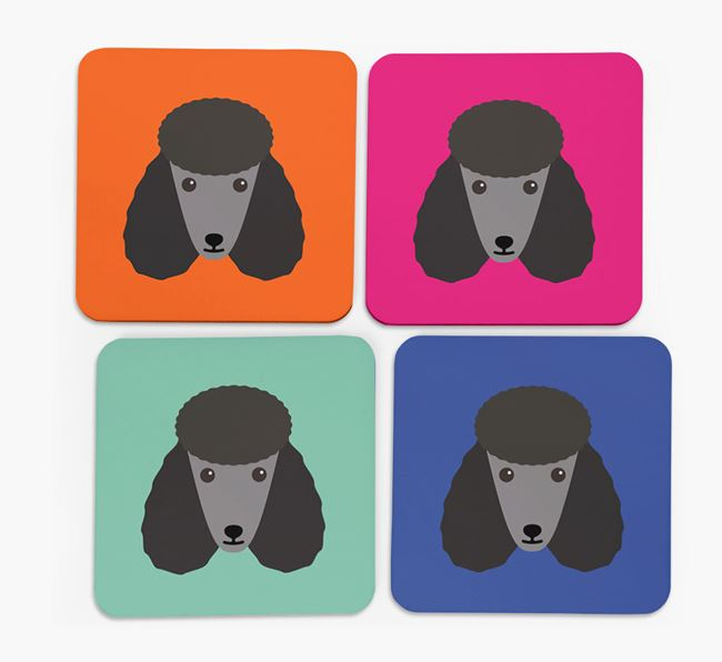 Poodle Icon Coasters 4 pack