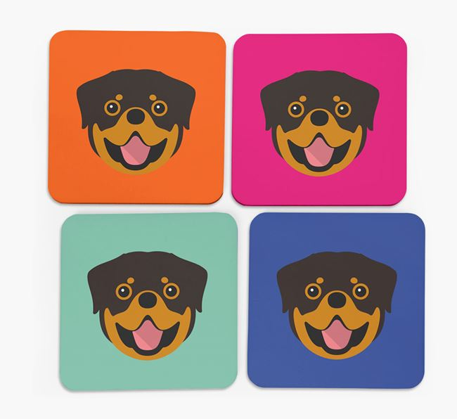 Dog Icon Coasters 4 pack
