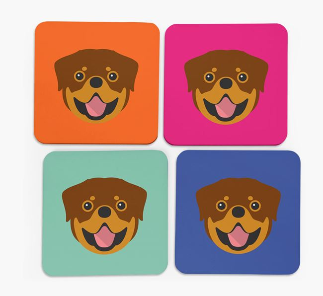 Rottweiler Icon Coasters 4 pack