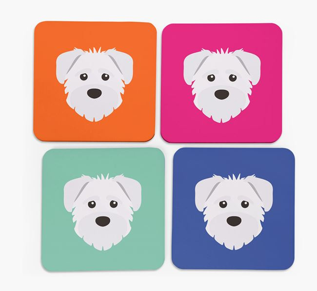 Schnoodle Icon Coasters 4 pack