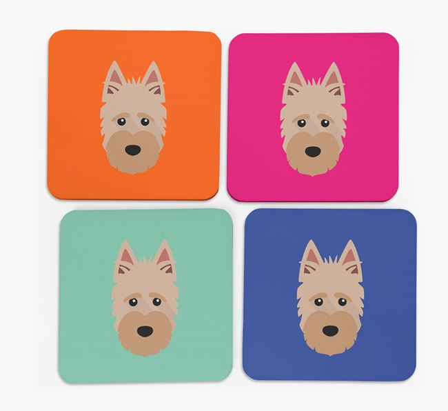 Scottish Terrier Icon Coasters 4 pack