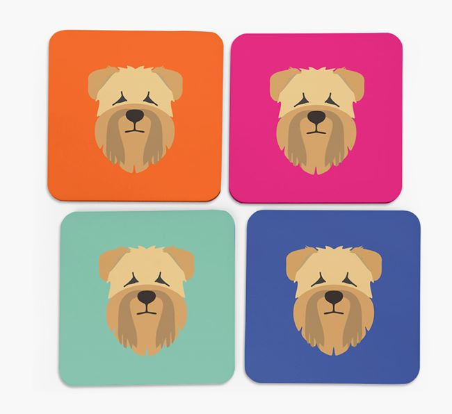 Wheaten Terrier Icon Coasters 4 pack
