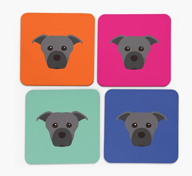 Staffie Icon Coasters 4 pack