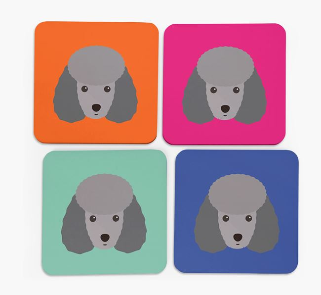 Toy Poodle Icon Coasters 4 pack