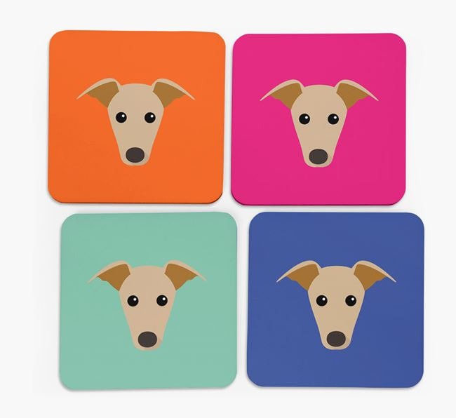 Whippet Icon Coasters 4 pack