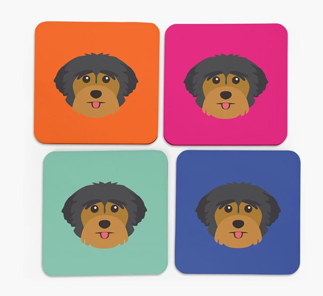 Yorkshire Terrier Icon Coasters 4 pack